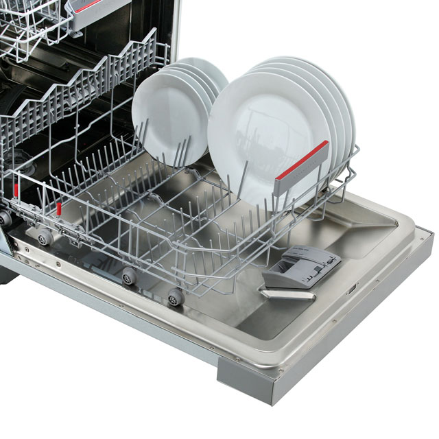 Bosch Serie 6 SMI68MS06G Semi Integrated Standard Dishwasher - Stainless Steel - SMI68MS06G_SS - 4