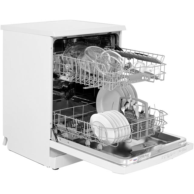 Bosch Serie 2 SMS24AW01G Standard Dishwasher - White - SMS24AW01G_WH - 4