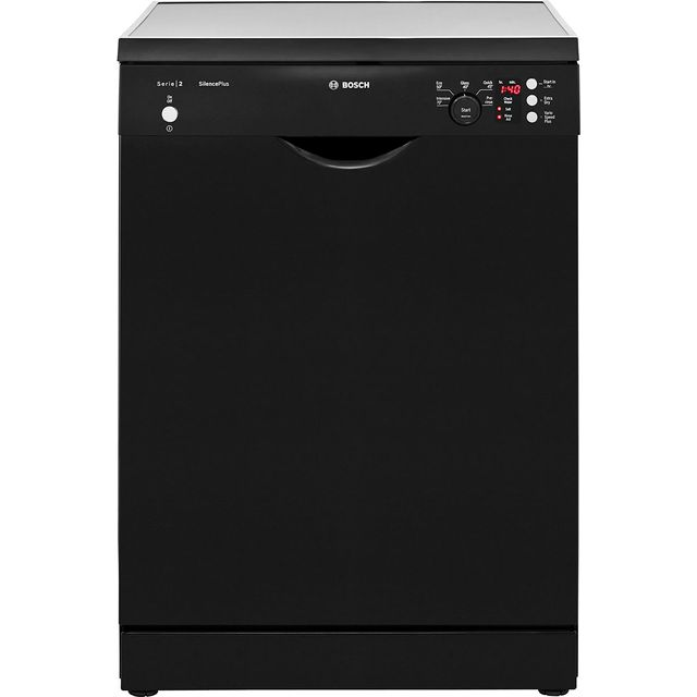 Bosch Serie 2 SMS25EB00G Standard Dishwasher - Black Best Price, Cheapest Prices