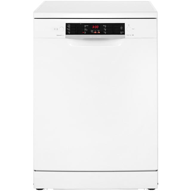 bosch serie 4 sms46mw01g standard dishwasher white a. Black Bedroom Furniture Sets. Home Design Ideas