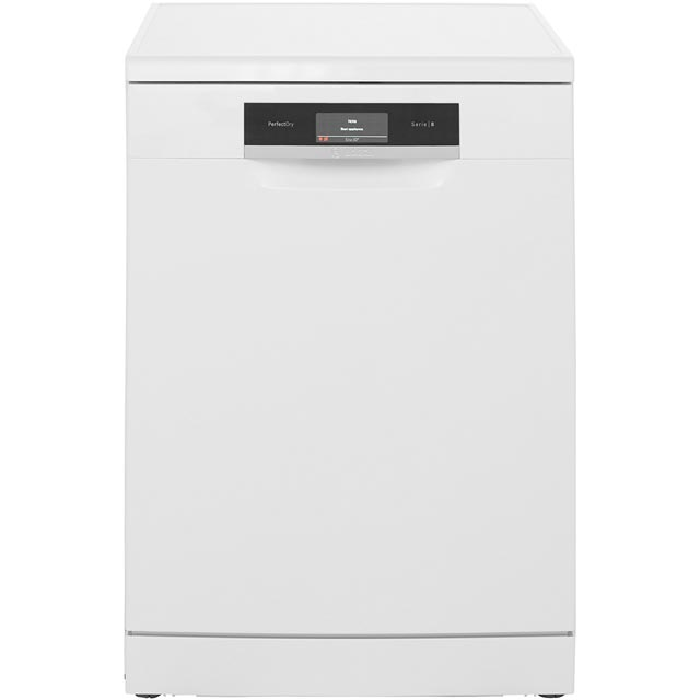 Bosch Serie 8 SMS88TW06G Standard Dishwasher - White Best Price, Cheapest Prices