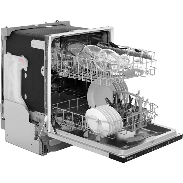 Bosch Serie 2 SMV40C30GB Fully Integrated Standard Dishwasher - Black - SMV40C30GB_BK - 5
