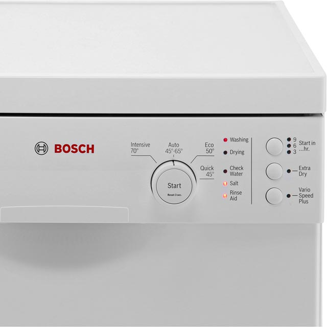 Bosch Serie 2 SPS24CW00G Slimline Dishwasher - White - SPS24CW00G_WH - 3