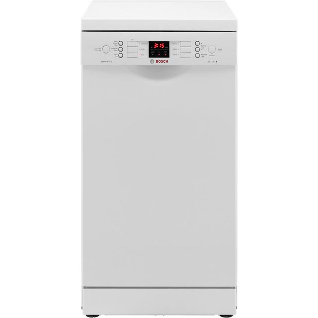 Bosch Serie 4 Slimline Dishwasher - White - A+ Rated