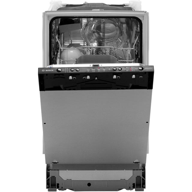 Bosch Serie 2 SPV25CX00G Fully Integrated Slimline Dishwasher - Black - SPV25CX00G_SS - 4