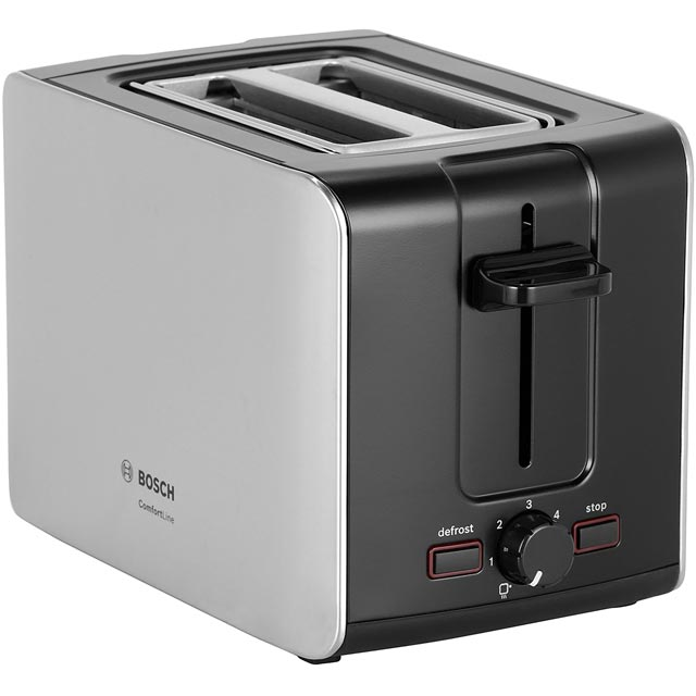 Bosch City TAT6A913GB 2 Slice Toaster - Silver / Stainless Steel