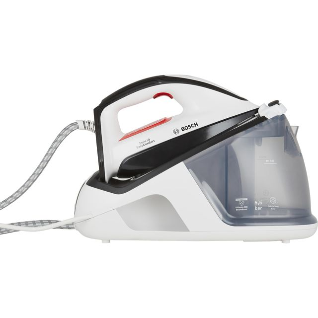 Bosch Series 4 Easy Comfort TDS4070GB Pressurised Steam Generator Iron - White - TDS4070GB_WH - 1