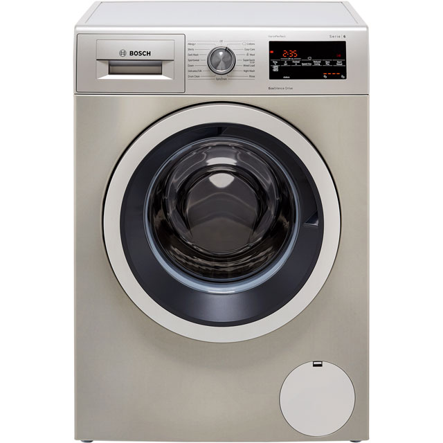 Bosch Serie 6 WAT2840SGB 9Kg Washing Machine with 1400 rpm - Silver - WAT2840SGB_SI - 1