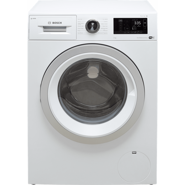 "Bosch Serie 6 i-Dosâ""¢ WAU28PH9GB Wifi Connected 9Kg Washing Machine with 1400 rpm - White - A+++ Ra"