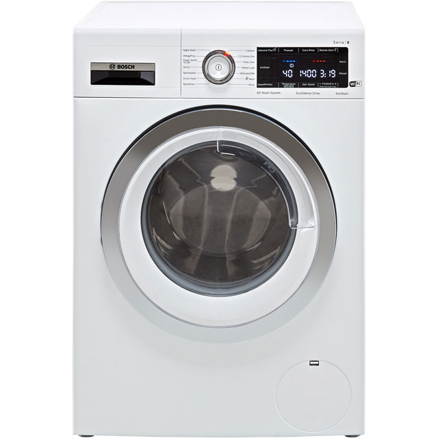 Bosch Serie 8 WAV28MH9GB Wifi Connected 9Kg Washing Machine with 1400 rpm - White - A+++ Rated - WAV28MH9GB_WH - 1
