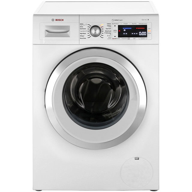 Bosch Serie 8 9Kg Washing Machine - White - A+++ Rated