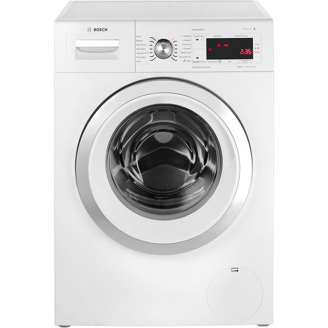 bosch serie 8 free standing washing machine in white washing machines. Black Bedroom Furniture Sets. Home Design Ideas
