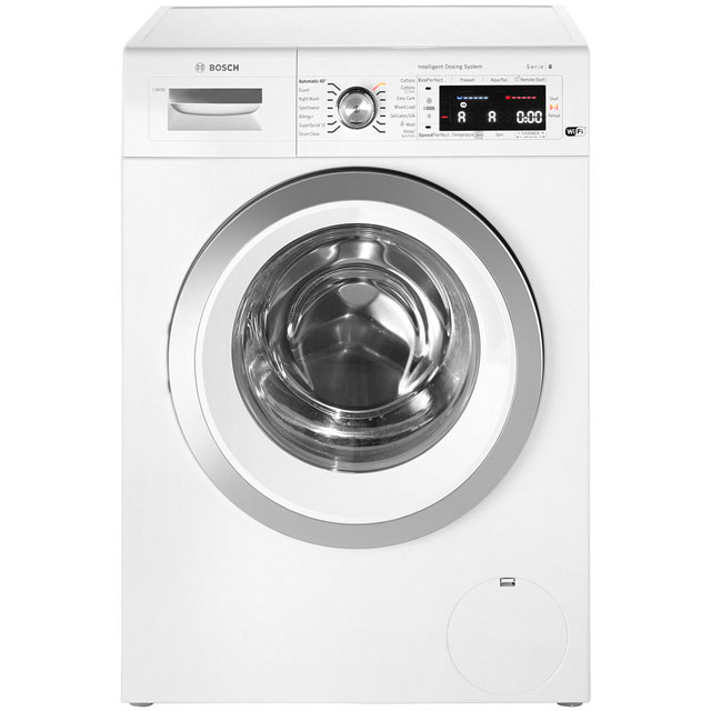 Bosch Serie 8 i-Dos™ WAWH8660GB Wifi Connected 9Kg Washing Machine with 1400 rpm - White - A+++ Rated - WAWH8660GB_WH - 1