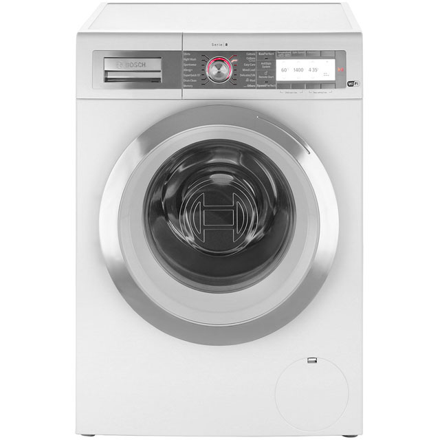 Bosch Serie 8 WAYH8790GB 9Kg Washing Machine with 1400 rpm - White - A+++ Rated