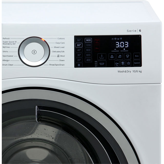 Bosch Serie 6 WDU28560GB 10Kg / 6Kg Washer Dryer - White - WDU28560GB_WH - 5