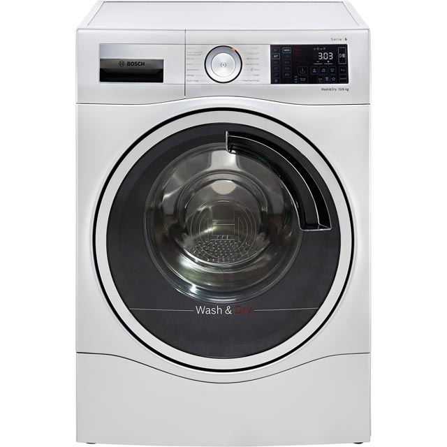 Bosch Serie 6 WDU28568GB 10Kg / 6Kg Washer Dryer with 1400 rpm - Silver - A Rated - WDU28568GB_WH - 1