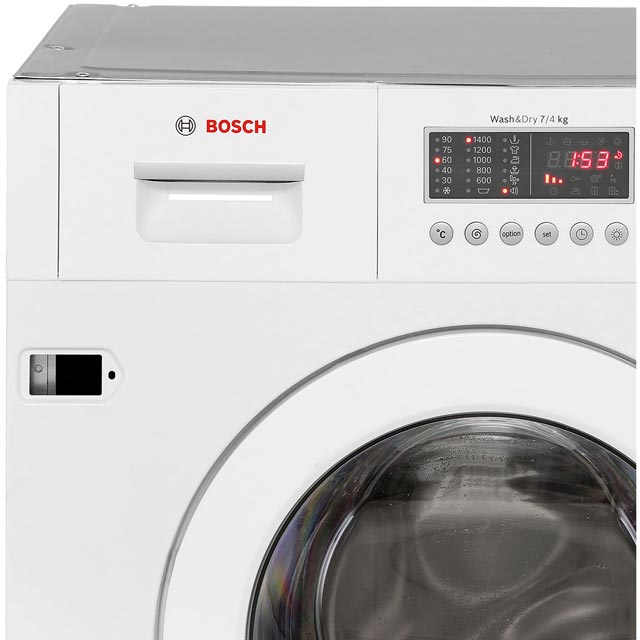 Bosch Serie 6 WKD28541GB Built In Washer Dryer - White - WKD28541GB_WH - 5