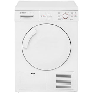 Bosch Serie 4 WTE84106GB Condenser Tumble Dryer - White - WTE84106GB_WH - 1