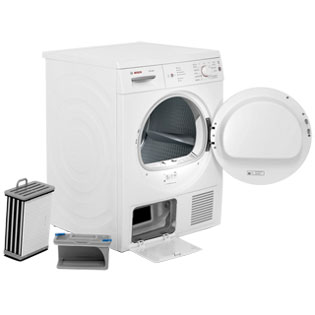 Bosch Serie 4 WTE84106GB Condenser Tumble Dryer - White - WTE84106GB_WH - 2
