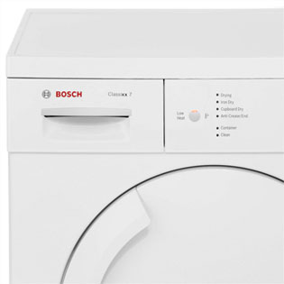 Bosch Serie 4 WTE84106GB Condenser Tumble Dryer - White - WTE84106GB_WH - 3