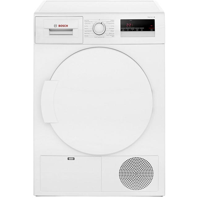 Bosch Serie 4 WTN83200GB 8Kg Condenser Tumble Dryer - White - B Rated - WTN83200GB_WH - 1
