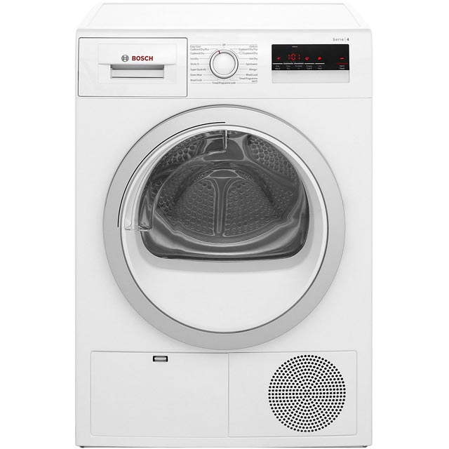 Bosch Serie 4 WTN85200GB Free Standing Condenser Tumble Dryer in White