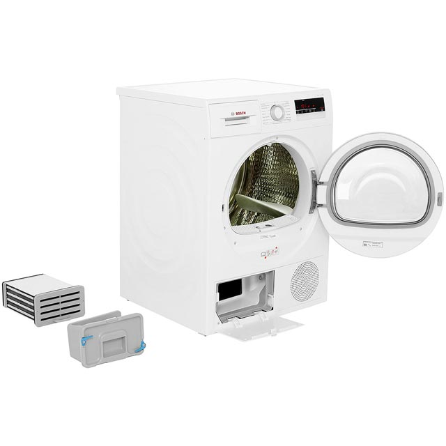 Bosch Serie 4 WTN85200GB Condenser Tumble Dryer - White - WTN85200GB_WH - 2