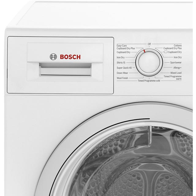 Bosch Serie 4 WTN85200GB Condenser Tumble Dryer - White - WTN85200GB_WH - 3