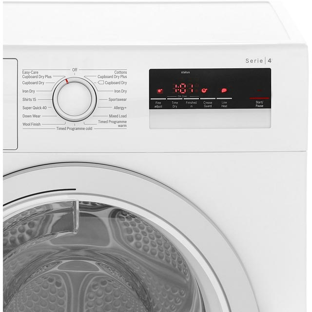 Bosch Serie 4 WTN85200GB Condenser Tumble Dryer - White - WTN85200GB_WH - 4