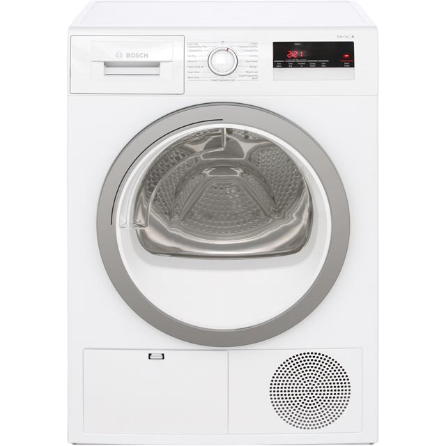 Bosch Serie 4 WTN85250GB Condenser Tumble Dryer - White - WTN85250GB_WH - 1