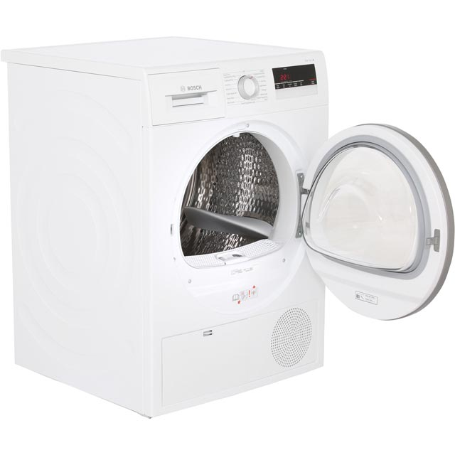 Bosch Serie 4 WTN85250GB Condenser Tumble Dryer - White - WTN85250GB_WH - 2