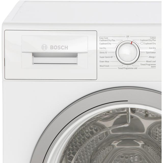 Bosch Serie 4 WTN85250GB Condenser Tumble Dryer - White - WTN85250GB_WH - 3