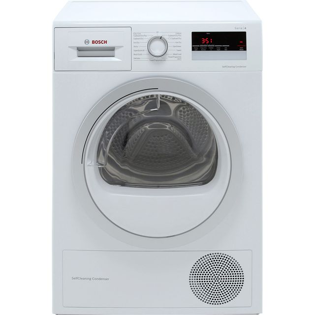 Bosch Serie 4 WTW85231GB Heat Pump Tumble Dryer - White - WTW85231GB_WH - 1