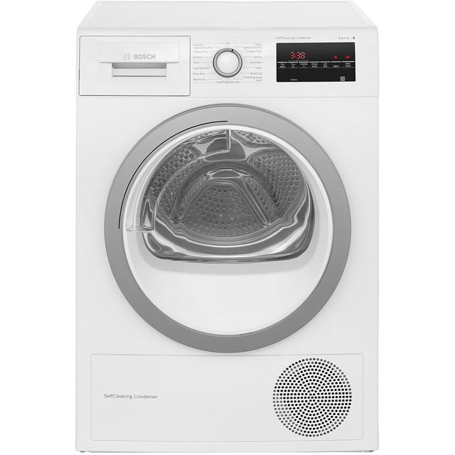Bosch Serie 6 WTW85451GB 8Kg Heat Pump Tumble Dryer - White - A++ Rated Best Price, Cheapest Prices