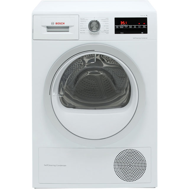 Bosch Serie 6 WTW85493GB Heat Pump Tumble Dryer - White - WTW85493GB_WH - 1