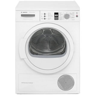 Bosch WTW863S1GB 7Kg Heat Pump Tumble Dryer - White - A++ Rated - WTW863S1GB_WH - 1