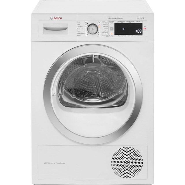 Bosch Serie 8 WTW87560GB Free Standing Condenser Tumble Dryer in White