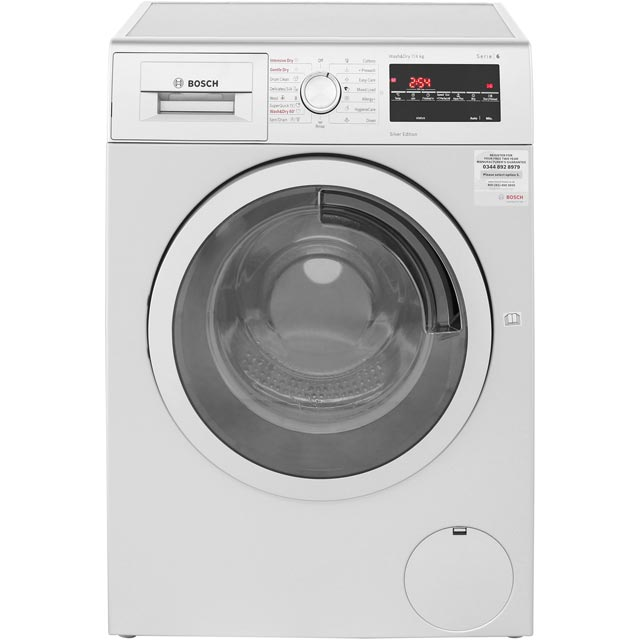 Bosch Serie 6 WVG3047SGB 7Kg / 4Kg Washer Dryer with 1500 rpm - Silver - A Rated - WVG3047SGB_SI - 1
