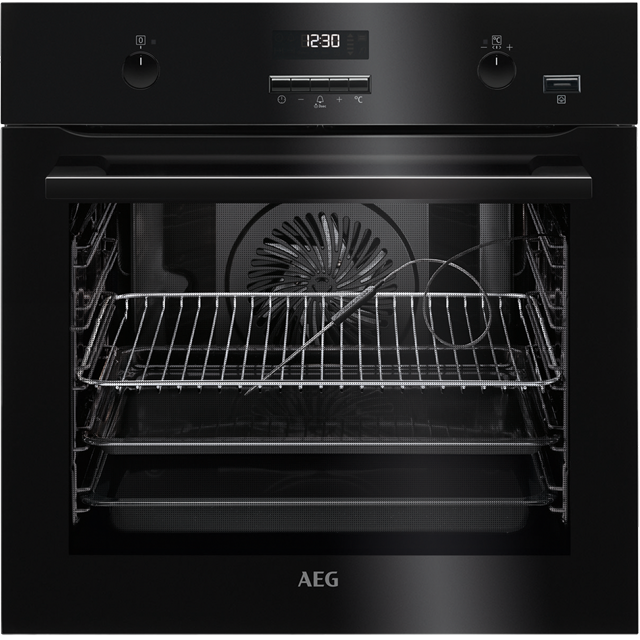 AEG BPE552220B Built In Electric Single Oven - Black - A+ Rated - BPE552220B_SS - 1
