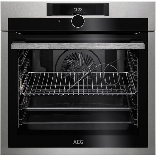 AEG Mastery BPE842720M Integrated Single Oven in Stainless Steel