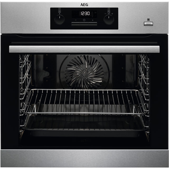 AEG BPS351020M Integrated Single Oven in Stainless Steel