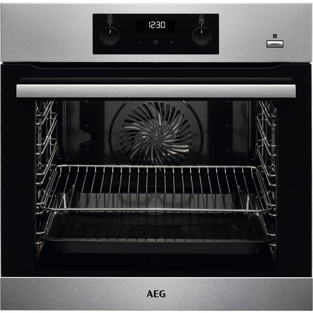 AEG BPS355020M Built In Electric Single Oven with added Steam Function - Stainless Steel - BPS355020M_SS - 1