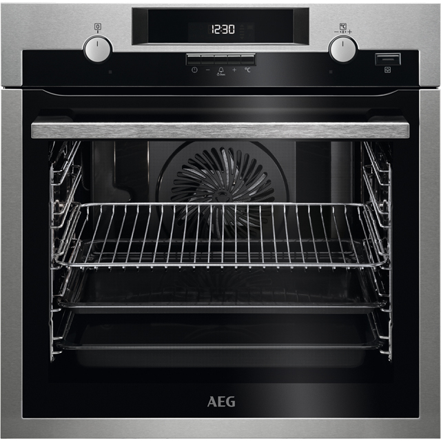 AEG BPS551020M Integrated Single Oven in Stainless Steel