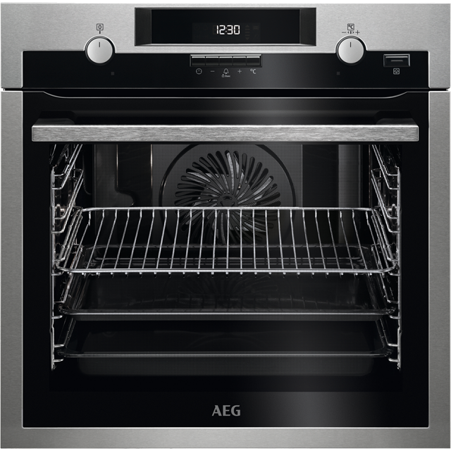 AEG BPS551020M Built In Electric Single Oven with added Steam Function - Stainless Steel - A Rated - BPS551020M_SS - 1
