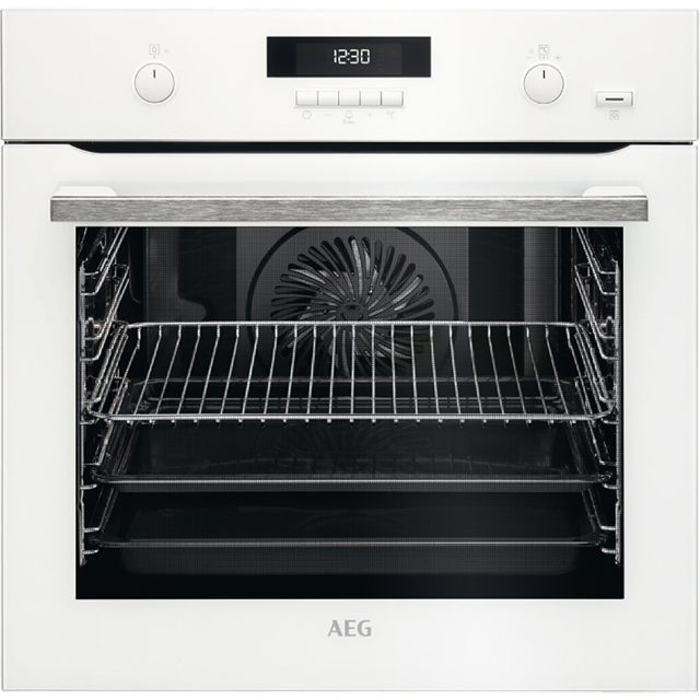 AEG BPS551020W Built In Electric Single Oven - White - A+ Rated - BPS551020W_WH - 1