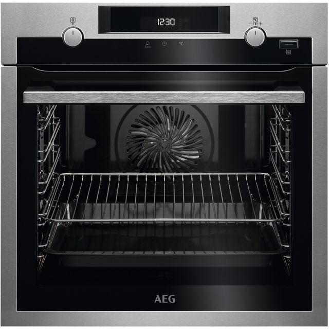 AEG BPS555020M Built In Electric Single Oven - Stainless Steel / Black - A+ Rated