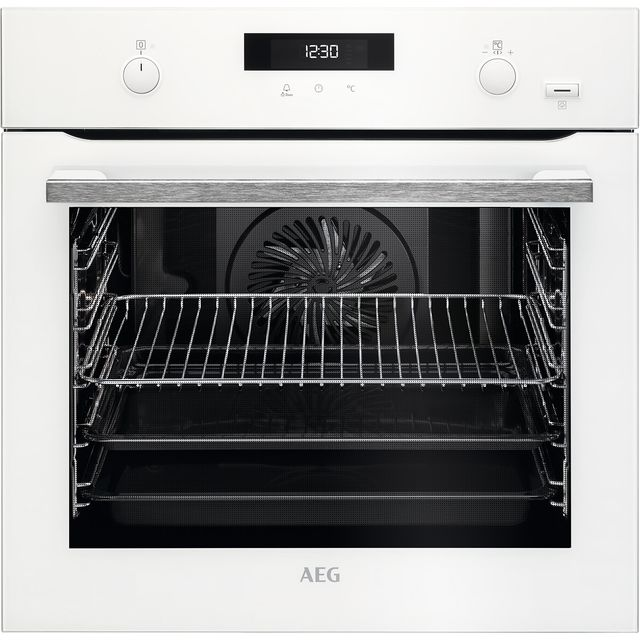 AEG BPS555020W Built In Electric Single Oven - White - A+ Rated