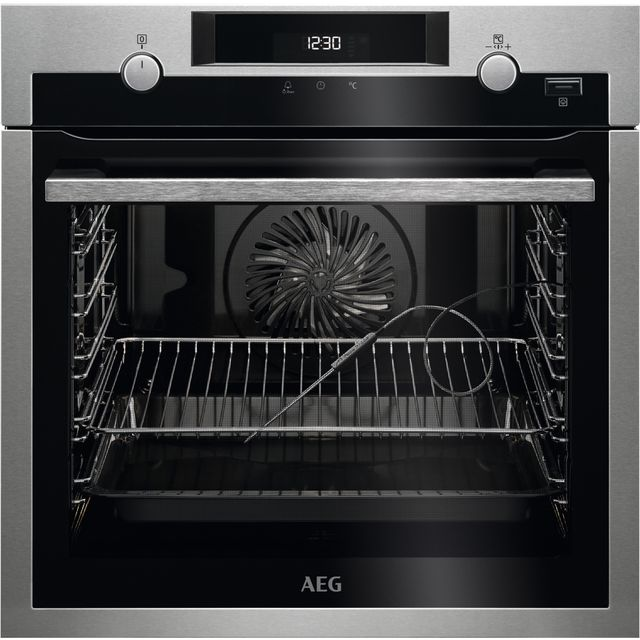 AEG BPS556020M Built In Electric Single Oven - Stainless Steel / Black - A+ Rated