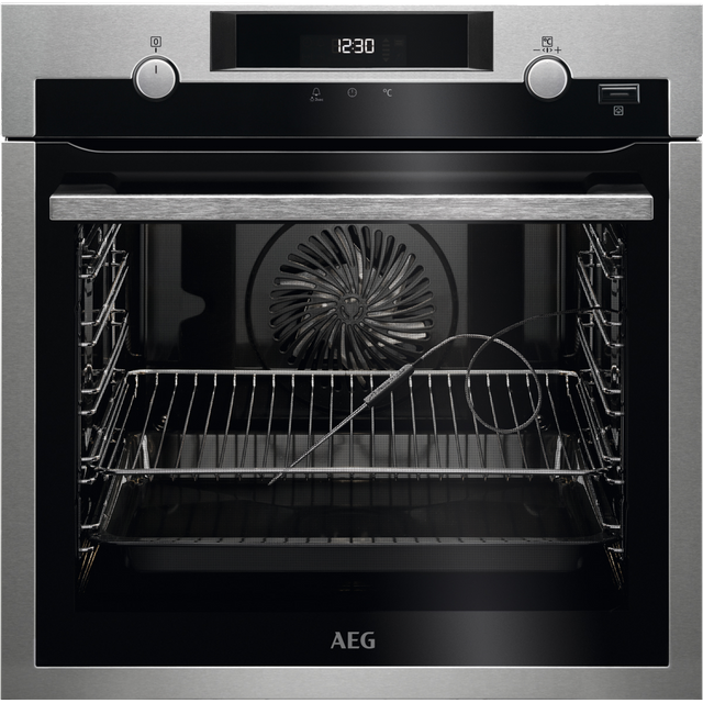 AEG BPS556020M Built In Electric Single Oven - Stainless Steel / Black
