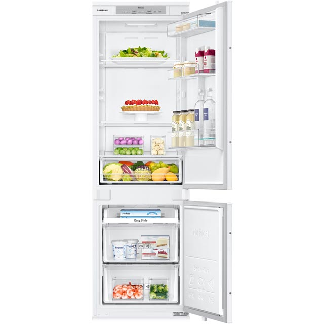 Samsung Integrated 70/30 Frost Free Fridge Freezer with Sliding Door Fixing Kit - White - A+ Rated
